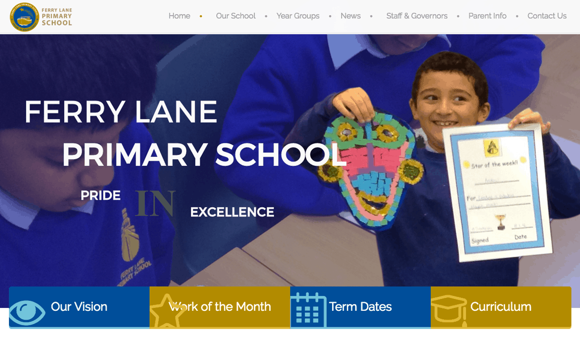 Ferry Lane - School Web Design