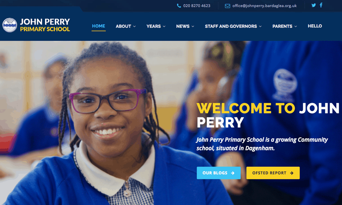 John Perry Primary - School Web Design