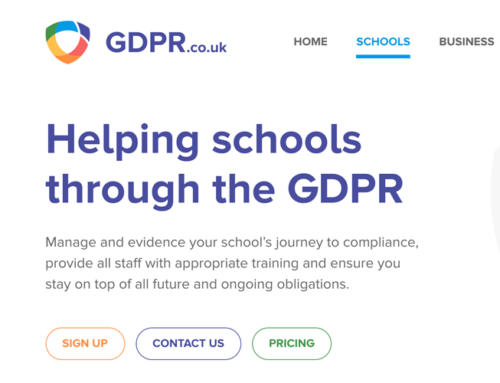 Helping Schools Through GDPR